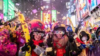 Celebration in Times Square