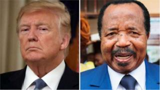 President Paul Biya (R) goment deny say deh use extrajudicial violence.