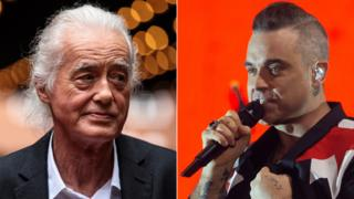 Jimmy Page and Robbie Williams