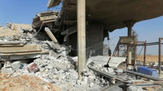 Destroyed facility linked to Kataib Hezbollah in al-Qaim, Iraq (30 December 2019)
