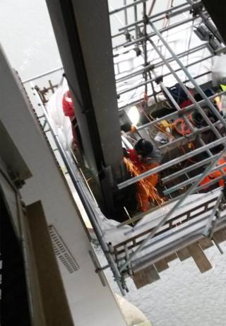 Welding work on Forth Road Bridge