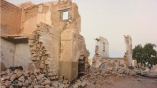 Building destroyed by war