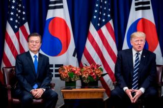 Trump meets South Korean President Moon Jae-in during UN meetings earlier this month