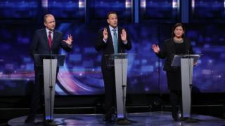 The three leaders faced scrutiny of their parties' policies on healthcare, housing and the economy