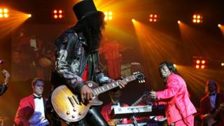 Slash and James Brown