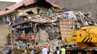 kenya, effondrement immeuble, accident, victimes