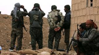 Abarwanyi b'umugwi YPG bariko baragenzura akarere k'imirwano