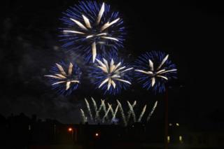 Fireworks shot on Hogmanay
