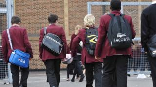 Children walking into school