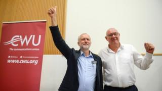 Jeremy Corbyn and Dave Ward