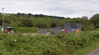 Skatepark in Caerphilly