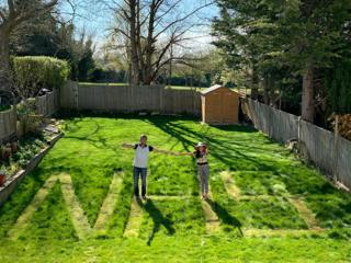 science NHS cut into a lawn