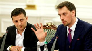 Володимир Зеленський та Олексій Гончарук