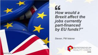 "Steven saying: ""How would a Brexit affect the jobs currently part-financed by EU funds?"
