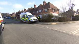 Scene of the shooting in Hersden, Kent