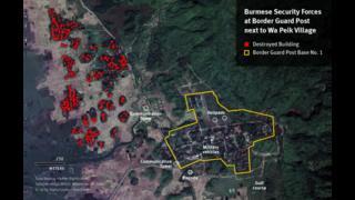 Burmese Security Forces near Wa Peik Village.