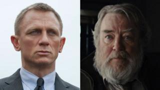 Daniel Craig and Albert Finney as they appear in Skyfall