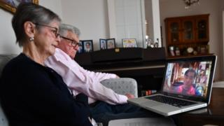 Couple in Adelaide, South Australia, watch online Good Friday Anglican service - 10 April