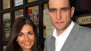 Vinnie Jones and Tanya photographed in 2002