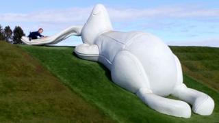 Brodie Castle's giant rabbit