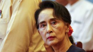 Myanmar pro-democracy leader Aung San Suu Kyi, chairperson of National League for Democracy party
