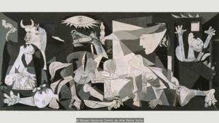 دیوارنگاره گرنیکا اثر پابلو پیکاسو که از بمباران شهری به همین نام در ناحیه باسک اسپانیا الهام گرفت یکی از مشهورترین نقاشیهای ضد جنگ در تاریخ است.
