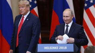 بوتين وترامب خلال المؤتمر الصحفي