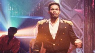 Colonel Abrams, performing Trapped on a seasonal edition of Top of the Pops in 1985