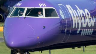 Flybe plane taxiing
