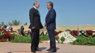 Vladimir Putin Shavkat Mirziyoyev