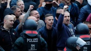 Chemnitz far right protesters, 27 Aug 18
