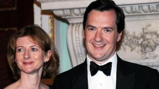 Frances and George Osborne in 2010