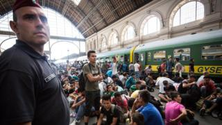 Вокзал Келети, Будапешт, беженцы, сентябрь 2015