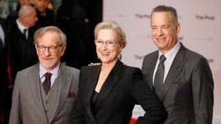 Stephen Spielberg, Meryl Streep and Tom Hanks