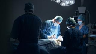 Stock image of a surgical procedure