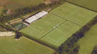 Aerial view of new training ground