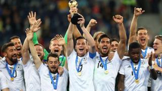 L'équipe d'Allemagne championne du monde en titre a récemment remporté la coupe des confédérations 2017