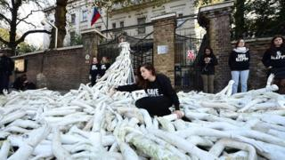 Protest outside Russian embassy