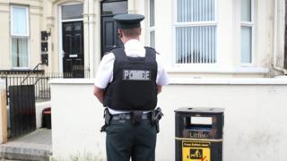 Antrim Road assault scene