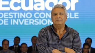 Lenin Moreno at the conference