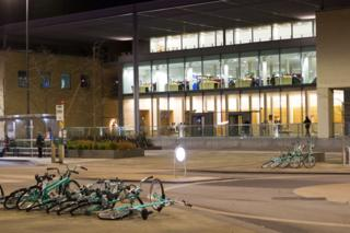 The Said Business School at night