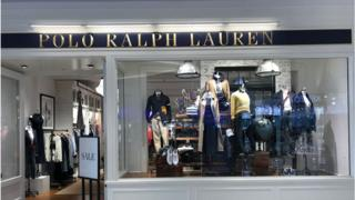 Polo Ralph Lauren store at the Beverly Center in Los Angeles, California.