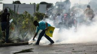 Scène de violence au Gabon, après le scrutin présidentiel du 27 août dernier.