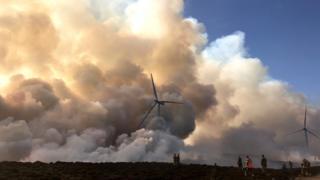 Moray fire scene