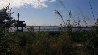 Kuzey ile Güney Kore sınırı