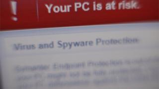 Ransomware screen grab