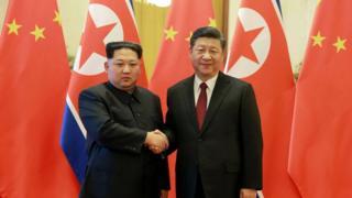 Ким Чен Ын встретился с Си Цзиньпином во время визита в Китай