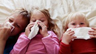 Crianças resfriadas