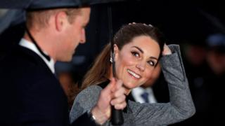 Duke and Duchess of Cambridge arrive in Westminster