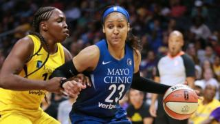 Maya Moore plays in the 2018 WNBA season